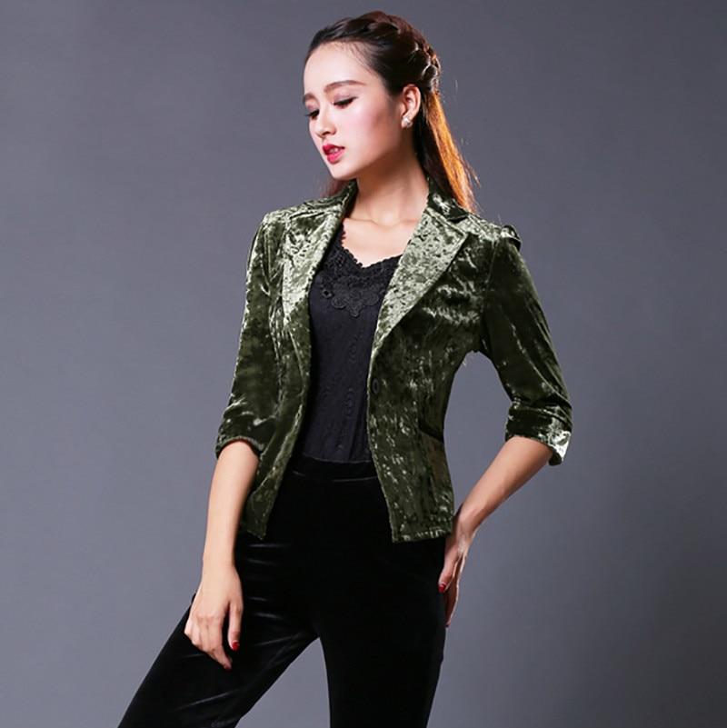 De Paragraphe 2 Streetwear Manches Veste Costume Luxe Femmes Fit Vêtements Loisirs Couleur Solide Automne Moyen 1 Court Slim q1RwaIWHz
