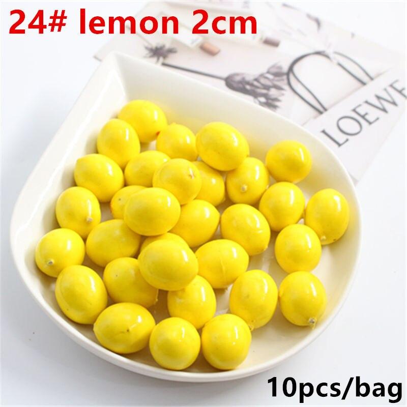 10 Pcs Artificial Realistic Simulation Lemon Yellow & False Faux Fruit For Decoration