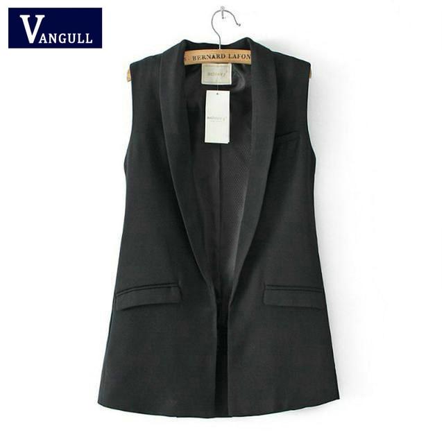 Женская мода элегантный офис леди карман пальто без рукавов жилет куртка и пиджаки повседневная марка Жилет colete feminino Горячие продажа
