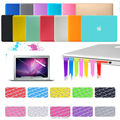 Free Shipping 15 colors 4in1 Matte Hard Case Cover + Keyboard Cover +Film + Plug Set For Macbook Air 11 13 / Pro 13 15 + Retina