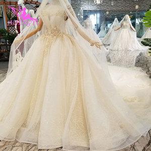 Image 5 - AIJINGYU Plus Size Wedding Gowns Bridal Dresses Sale Turkish Beaded China Factory Gown Websites Luxury Crystal Wedding Dress