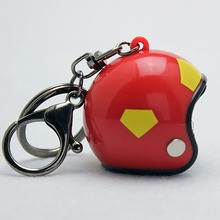 Keychain Women Motorcycle Charms Gift-Jewelry Safety Cute Helmet Bags Wholesale New