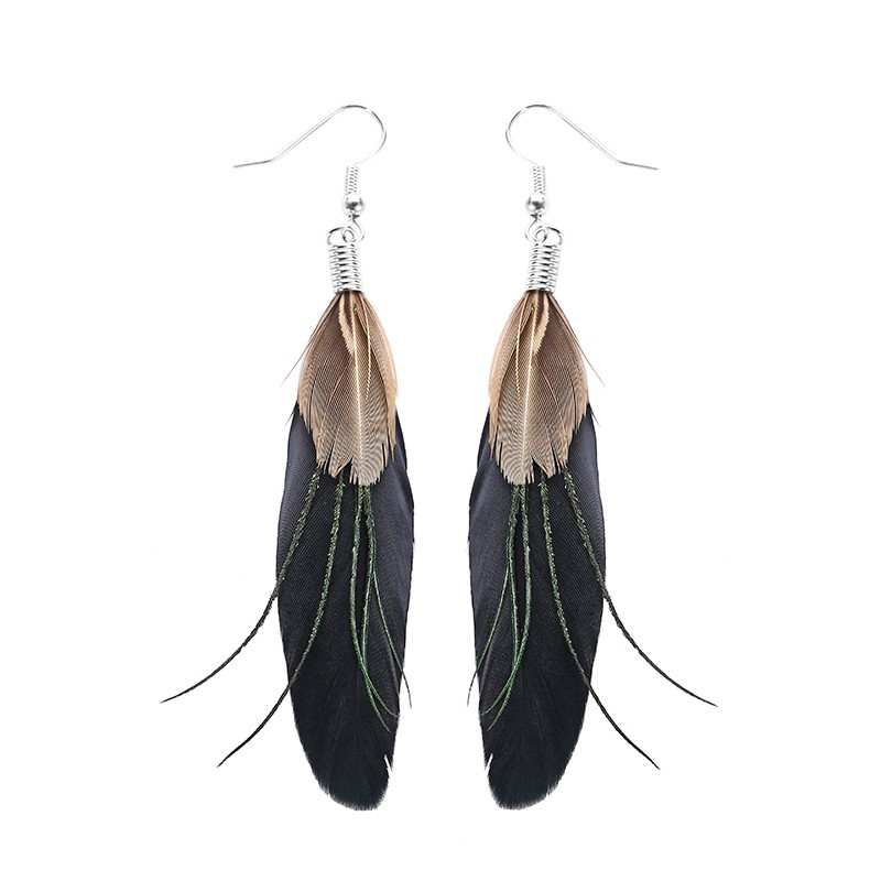 feather hoop earrings picture more detailed picture