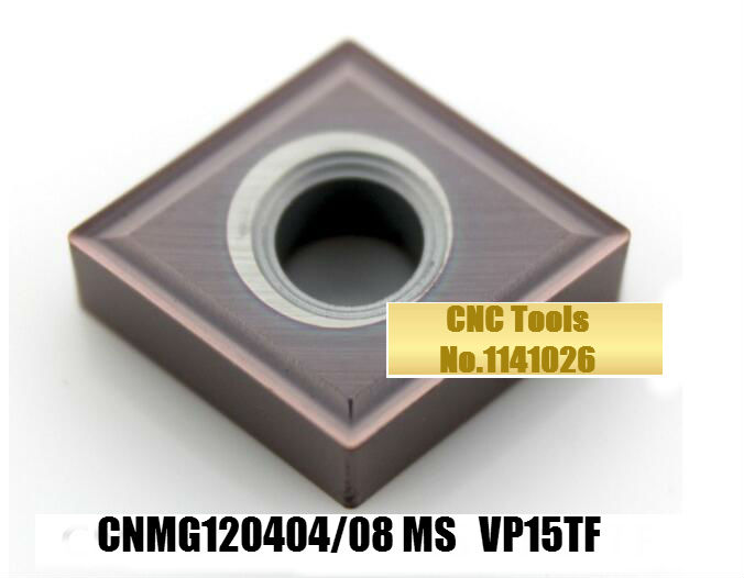 10PCS CNMG120404 MS VP15TF /CNMG120408-MS VP15TF,original <font><b>CNMG</b></font> <font><b>120404</b></font> MS/120408 insert carbide for turning tool holder image