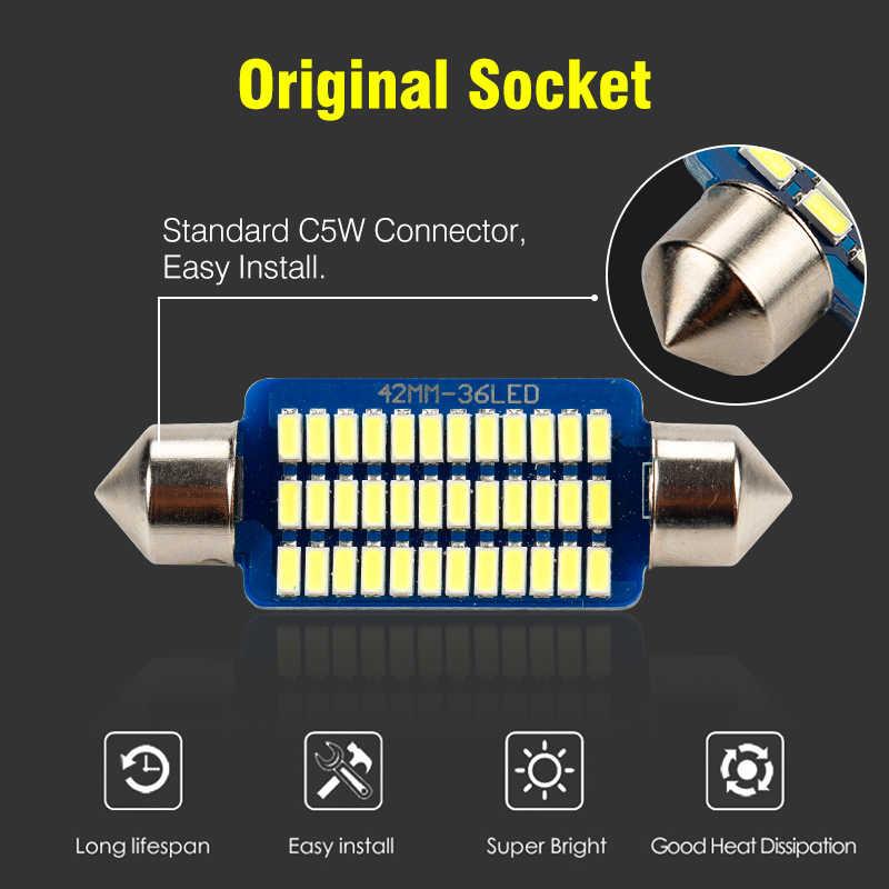 1 個 C5W led カーインテリアライト canbus フェストゥーン 31 ミリメートル 36 ミリメートル 39 ミリメートル 42 ミリメートル led 電球 6000 18k ホワイトドーム読書ライト自動ランプ 12 v