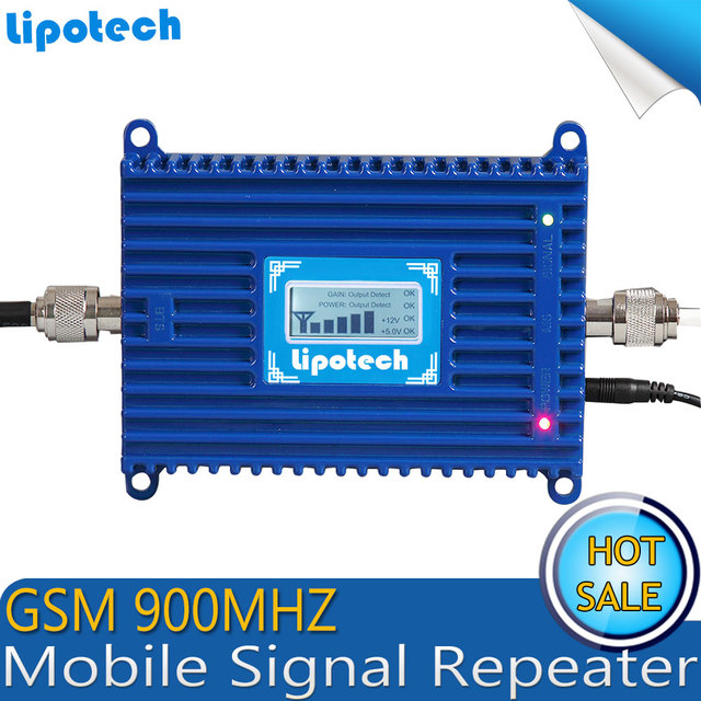 Display LCD!!! GSM 900 Mhz Mobile Phone Signal Booster, GSM Repetidor de Sinal, Amplificador de Sinal de Telefone Celular GSM