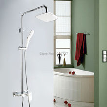 Factory Direct Patent Design Promotion Luxurious Shower Mixer Fixture Chrome & White Luxury Bathroom In Wall Mounted Set