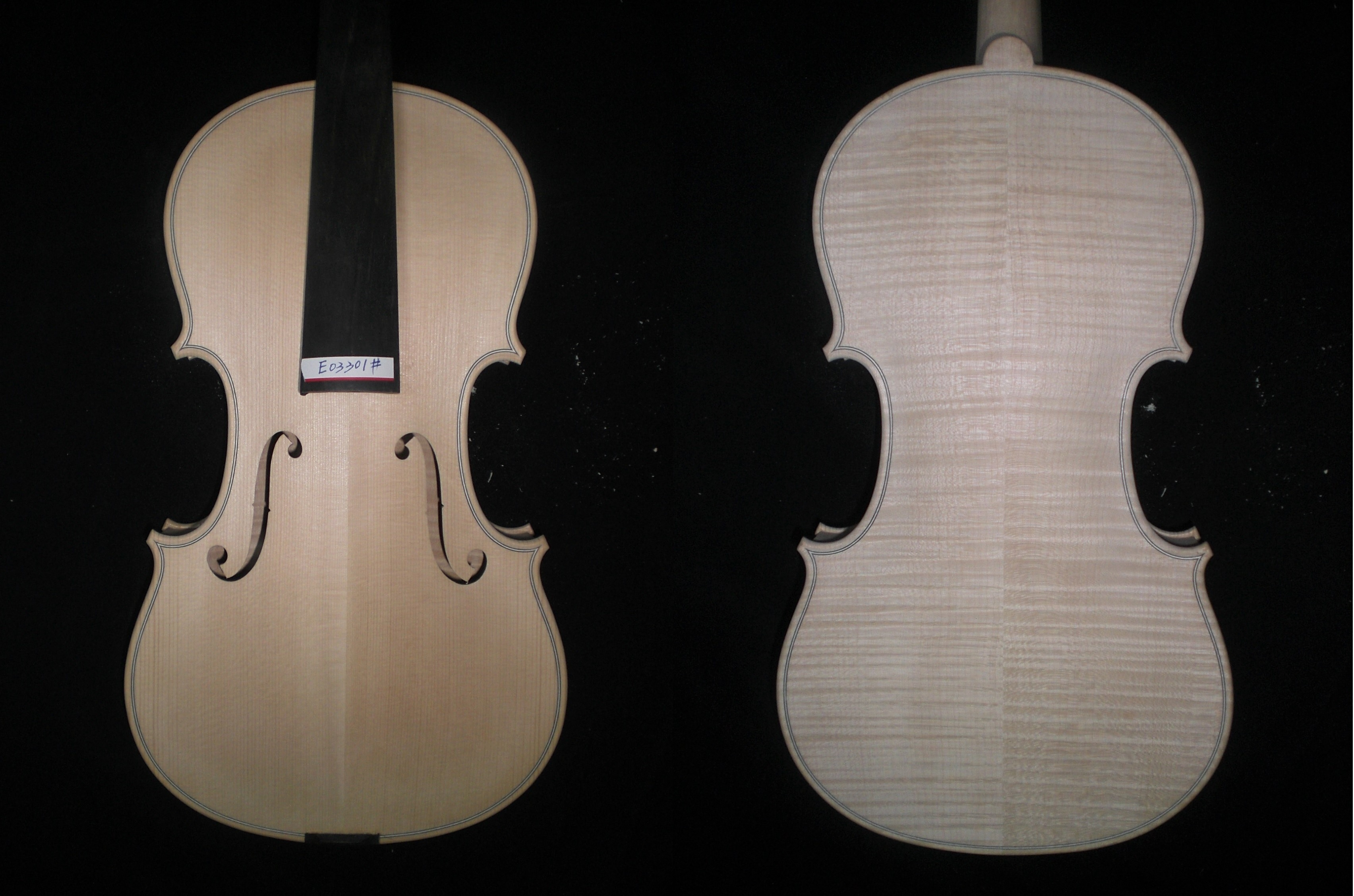 1 PC Quality Violin 4/4 Unfinished with Spruce Top Maple Back and Side Ebony Fingerboard European Wood 2 pcs new 4 4 unfinished violin flame maple back russian spruce top
