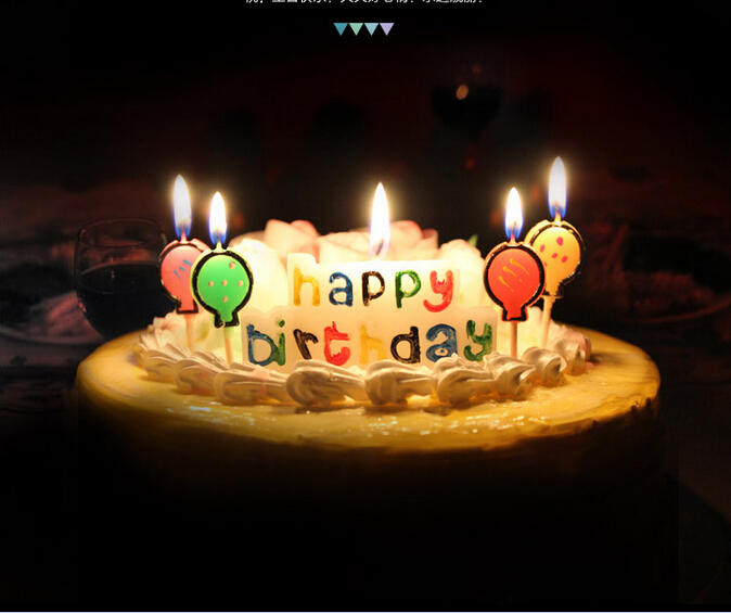 New Cute Happy Birthday Cake Candle Baby Decor Beautiful Balloons Shower Party Decoration In Candles From Home Garden On
