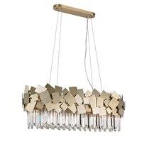 Арт деко дизайн Хрустальная люстра современного освещения блеск столовая гостиная светильники длина 90 см