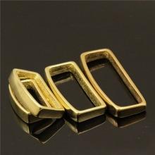2 Pcs Solid Brass Belt Keeper D Shape Strap Loop Ring Buckle for Leather Craft Bag 16mm 20mm 25mm 32mm 40mm