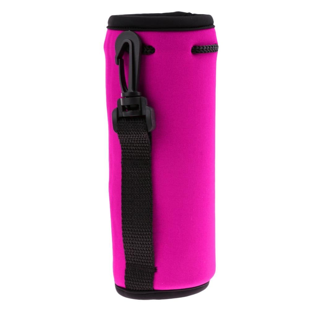 Insulated Neoprene Water Bottle Holder Cooler Cover Sleeve Tote Bag  Biker Portabotellas Porte-bouteilles