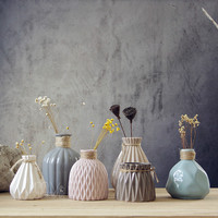 Ceramic Creative Fashion Vase Valentines Day Gift White Porcelain Place Bedroom Home Sitting Room Dry Flower Flower Arrangement
