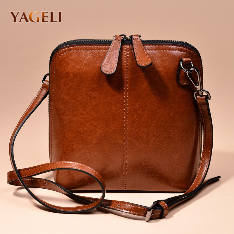 Genuine Leather Women's Messenger Shoulder Bags Shell Crossbody