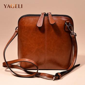 2018 genuine leather women's shoulder bags women's shell crossbody bag famous brand designer ladies shoulder messenger bags
