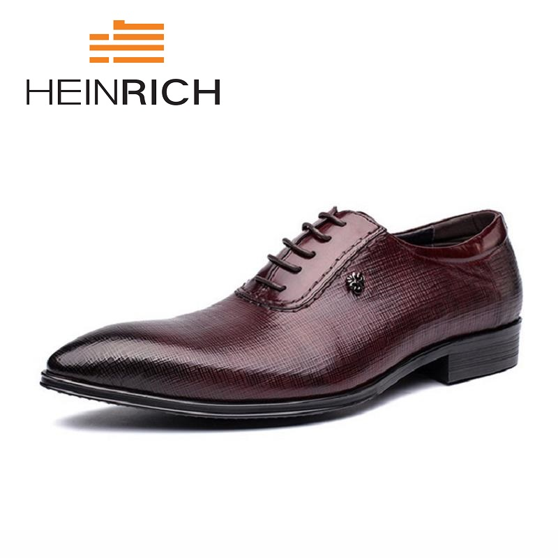 HEINRICH 2018 Men Dress Shoes Italian Wedding Oxford Shoes Men Elegant Suit Shoes Leather Flats Shoes Chaussures HommeHEINRICH 2018 Men Dress Shoes Italian Wedding Oxford Shoes Men Elegant Suit Shoes Leather Flats Shoes Chaussures Homme
