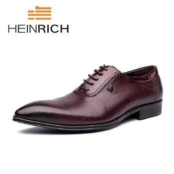 9ecca2c6 Zapatos de vestir para hombre heinich 2018 zapatos de Oxford para boda italianos  Zapatos elegantes para