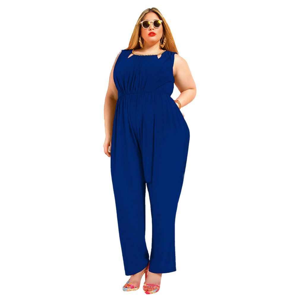 2016 Hot Nova Marca de Verão Plus Size 5XL Maxi Macacão Mulheres Macacão Macacão Macacão Sexy Backless Patchwork Calças de Comprimento Total