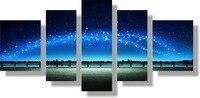 Blue sky giấc mơ vẽ tranh tường trang trí canvas in áp phích cho hộ gia đình trang điểm nghệ thuật chính kiến trúc số hình ảnh