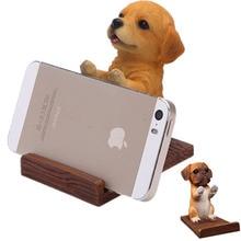Сотовый телефон держатель под дерево смолы 3D животного милый питомец смартфон собака настольная подставка кронштейн для iPhone 7 8 X xs xiaomi samsung s8