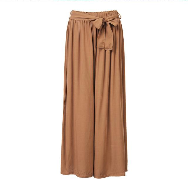 2017 de Las Mujeres Ocasionales Flojos de Pierna Ancha Pantalones de Cintura Elástico de la Vendimia Pantalones de Algodón Casual Pantalones Largos Sólidos de Gran Tamaño Más El Tamaño L-5XL