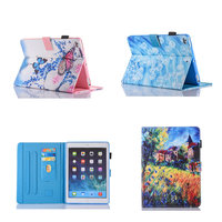 Kids Cute Cartoon Flip PU Leather With Soft TPU Back Stand Case Cover For Apple Ipad