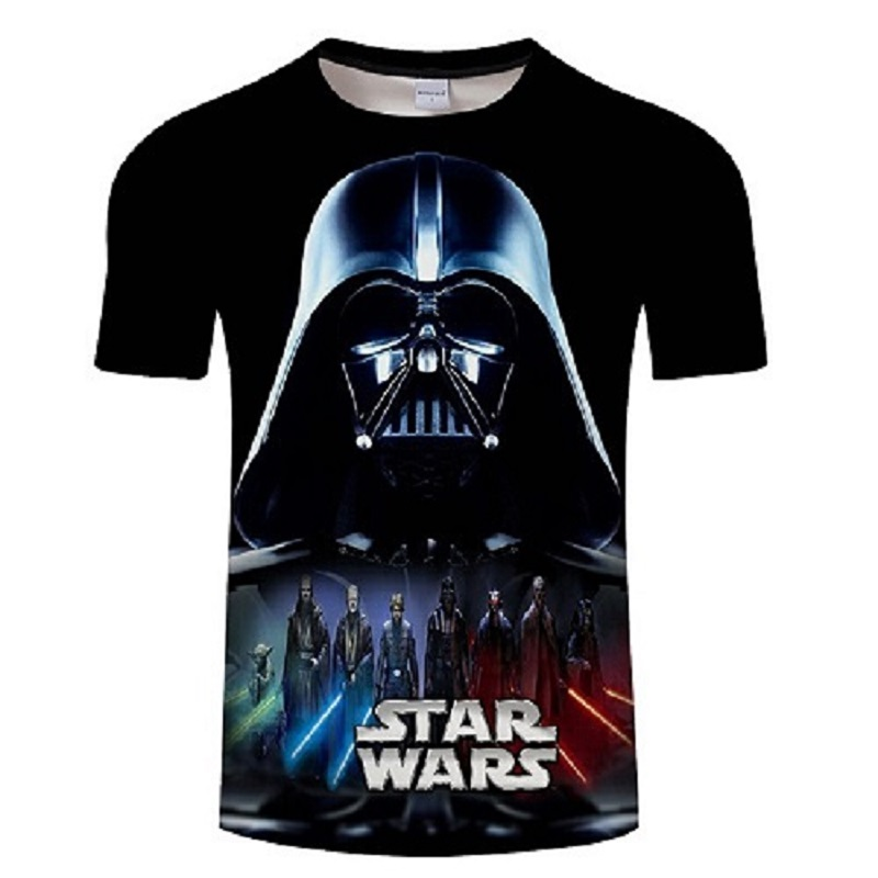2018 Newest 3D Printed star wars   t     shirt   Men Women Summer Short Sleeve Funny Top Tees Fashion Casual clothing Asia Size   T  -  shirt