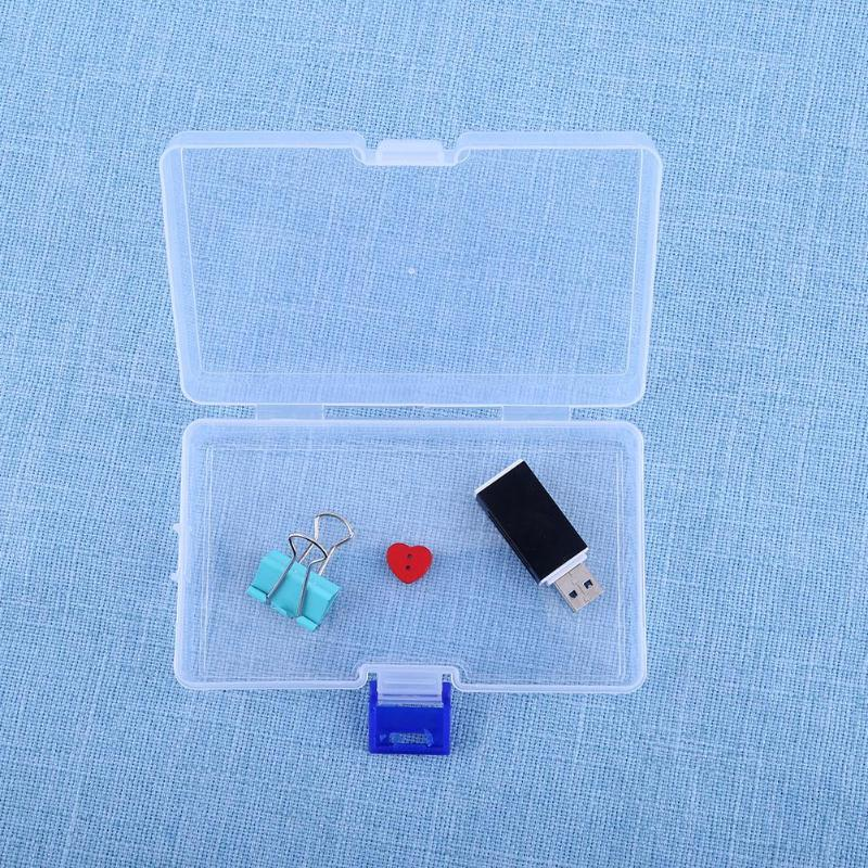Мини-держатель диспенсер ювелирные изделия Организатор поле Пластик прозрачный монета Pill Box Дело органайзера инструмент оптом
