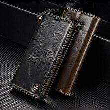 Для Samsung S8 случае Роскошные кожаные Filp кошелек чехол для Galaxy S4 S5 S6 S7 Edge Plus A3 A5 Примечание 4 5 Слот Флип карты кожаный Чехол