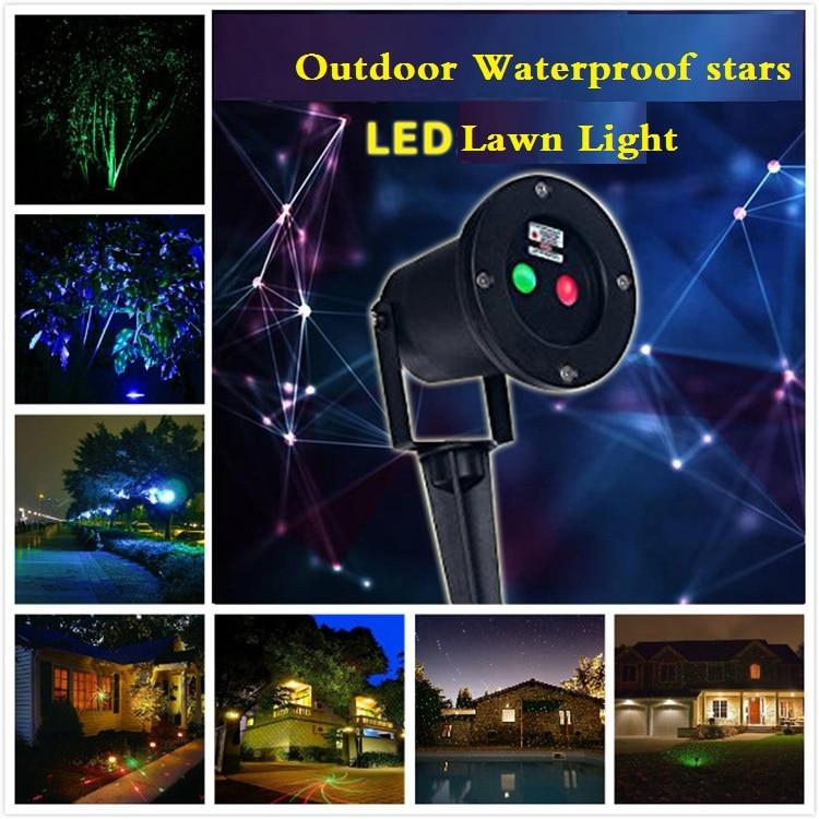 ФОТО Motor dynamic outdoor waterproof lights / red and Twinkling Laser Light / inserting ground lawn light / garden Landscape