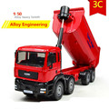 1:50 alloy truck models, high simulation of large transport truck toys, metal casting, educational toys, free shipping