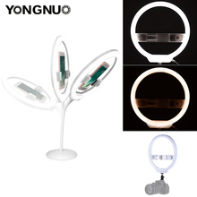 YONGNUO YN128 Anello di Luce Della Macchina Fotografica Photo/Studio/Telefono/Video 128 LED 3200 K 5500 K Fotografia dimmerabile Lampada Anello