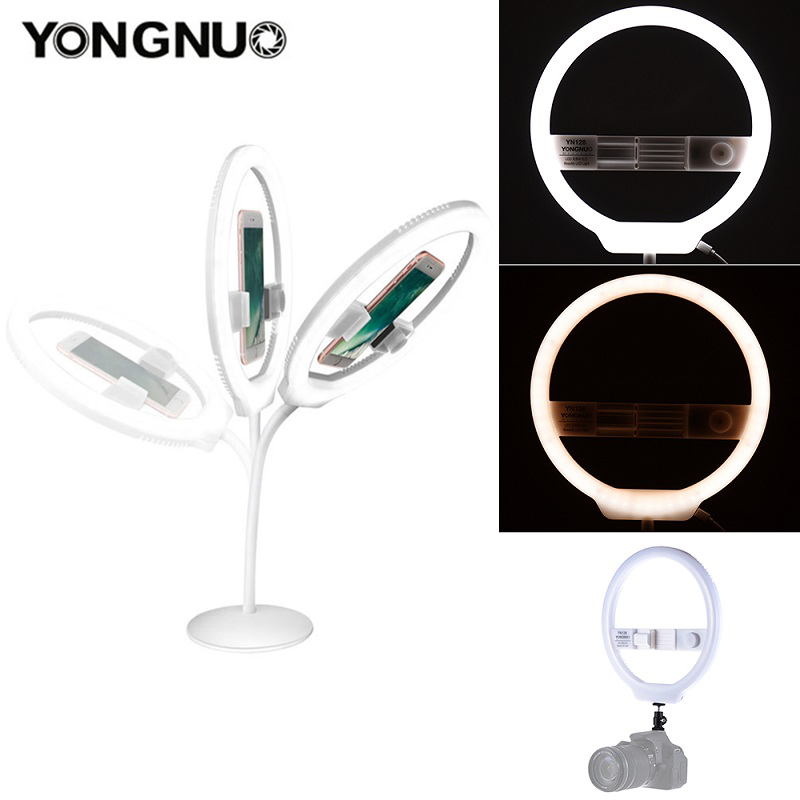 YONGNUO YN128 Ring Light Camera Photo/Studio/Phone/Video 128 LED 3200K-5500K Photography Dimmable Ring LampYONGNUO YN128 Ring Light Camera Photo/Studio/Phone/Video 128 LED 3200K-5500K Photography Dimmable Ring Lamp