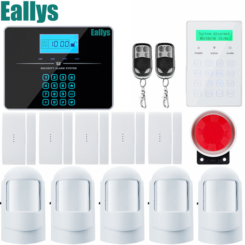 Android IOS Touch Screen Keypad+LCD touch display Wireless GSM SMS Home/house Security Burglar Voice Smart Alarm System diy touch keypad wireless gsm sms autodial smart home security burglar alarm system smoke sensor voice pir emergency