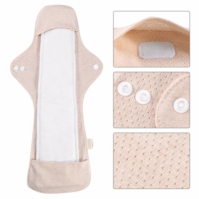 2Pcssets Reusable Menstrual Pad Organic Cotton Sanitary -4076