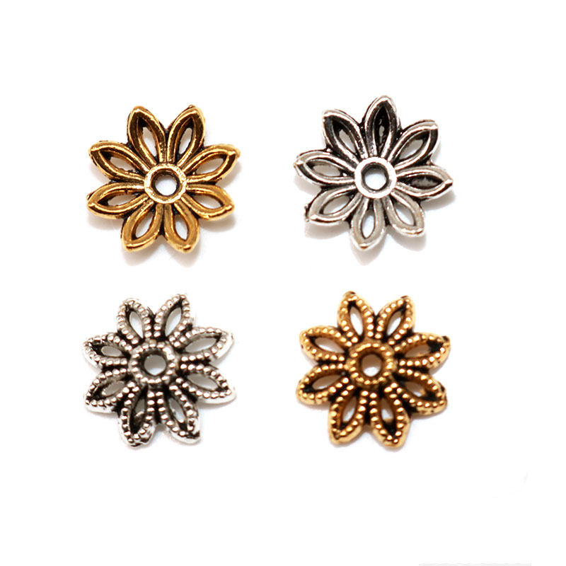 Wholesale 400//1000Pcs Tibetan Silver Daisy Spacer Beads Jewelry Making 4MM 6MM