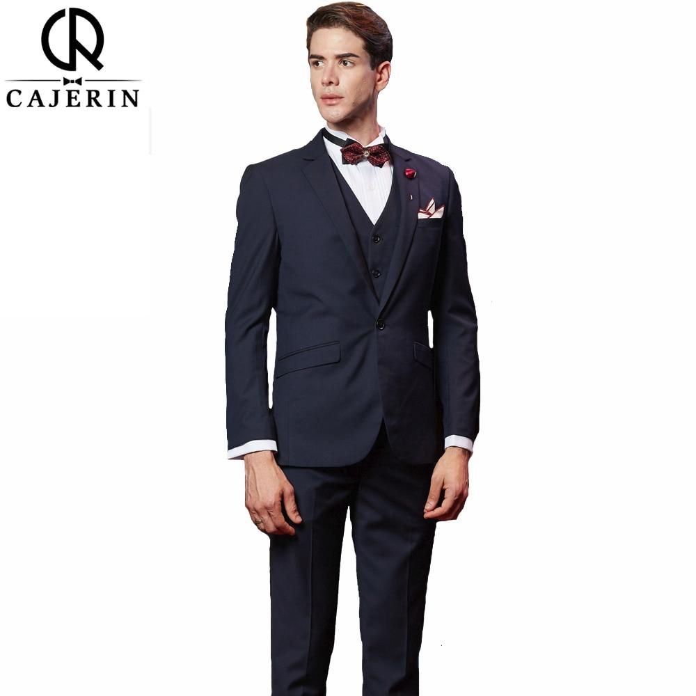 Cajerin Solid color (Jacket+Vest+Pants) Mens