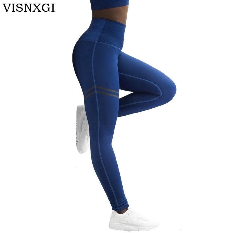 Schlussverkauf Visnxgi Active Hohe Taille Fitness Leggings Jeggings Frauen Hosen Mode Patchwork Workout Legging Stretch Dünne Sportswear Gut Verkaufen Auf Der Ganzen Welt