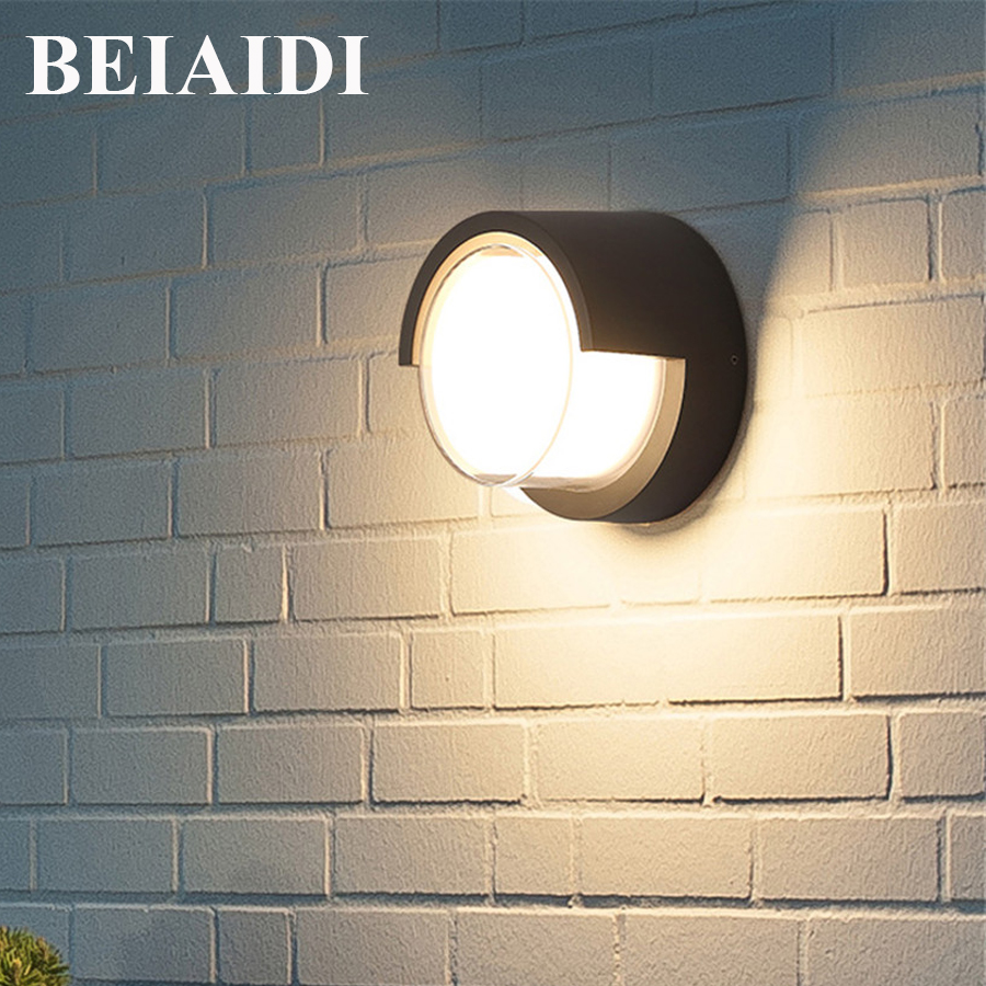 BEIAIDI Nordic Waterproof Wall lamp Outdoor Garden Corridor Aisle Porch Light Aluminum Villa Fence Balcony Gateway Wall Light beiaidi ip54 10w waterproof led wall lamp outdoor led porch lights modern villa patio fence garden balcony gateway wall lights