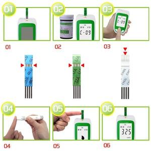 Image 4 - 3in1多機能コレステロール尿酸血糖計の血糖計キット糖尿病痛風テスター血糖モニターテストストリップ