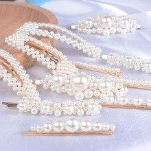 3Pcs/Set Fashion Pearl Hair Clip For Women Handmade Metal Sweet Headwear Simulation Barrettes Hairpins Girls
