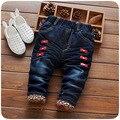 Niñas bebés Invierno Suave Jeans Moda Pantalones pantalones vaqueros de Los Niños del Bebé Pantalones de Mezclilla Suave