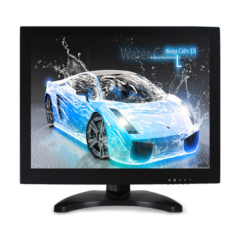 12.1 inch metal shell BNC HDMI VGA AV interface hd monitor display LCD computer monitors white 8 inch open frame industrial monitor metal monitor with vga av bnc hdmi monitor