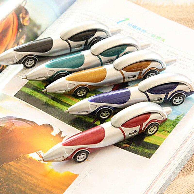 Gewetensvol 1 Pcs Nieuwe Leuke Auto Balpen Creatieve Cartoon Balpen Inkt Kleur Blauw 0.8 Mm Tekening Speelgoed Kantoor School Schrijven Levert Gemakkelijk Te Smeren