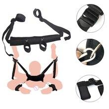 Bdsm Bondage Restraints Nylon Handcuffs With Neck Collar Fetish Foot Cuffs Sex Easy Open Leg Women Erotic SM Product Sexo Toys