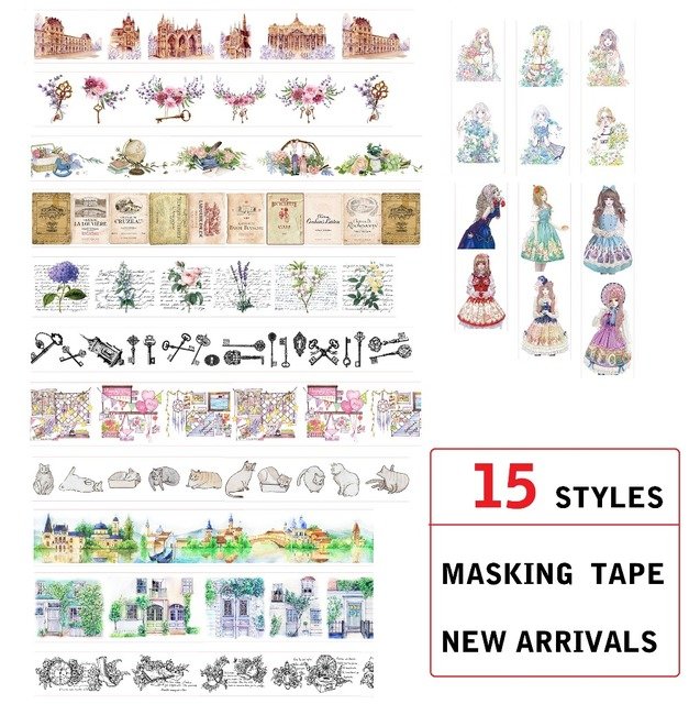Astonishing Us 2 48 15 Style House Flowers Letter Girls Cat Castle Japanese Washi Tape Decorative Adhesive Diy Masking Paper Tape Label Sticker T In Office Home Interior And Landscaping Synyenasavecom