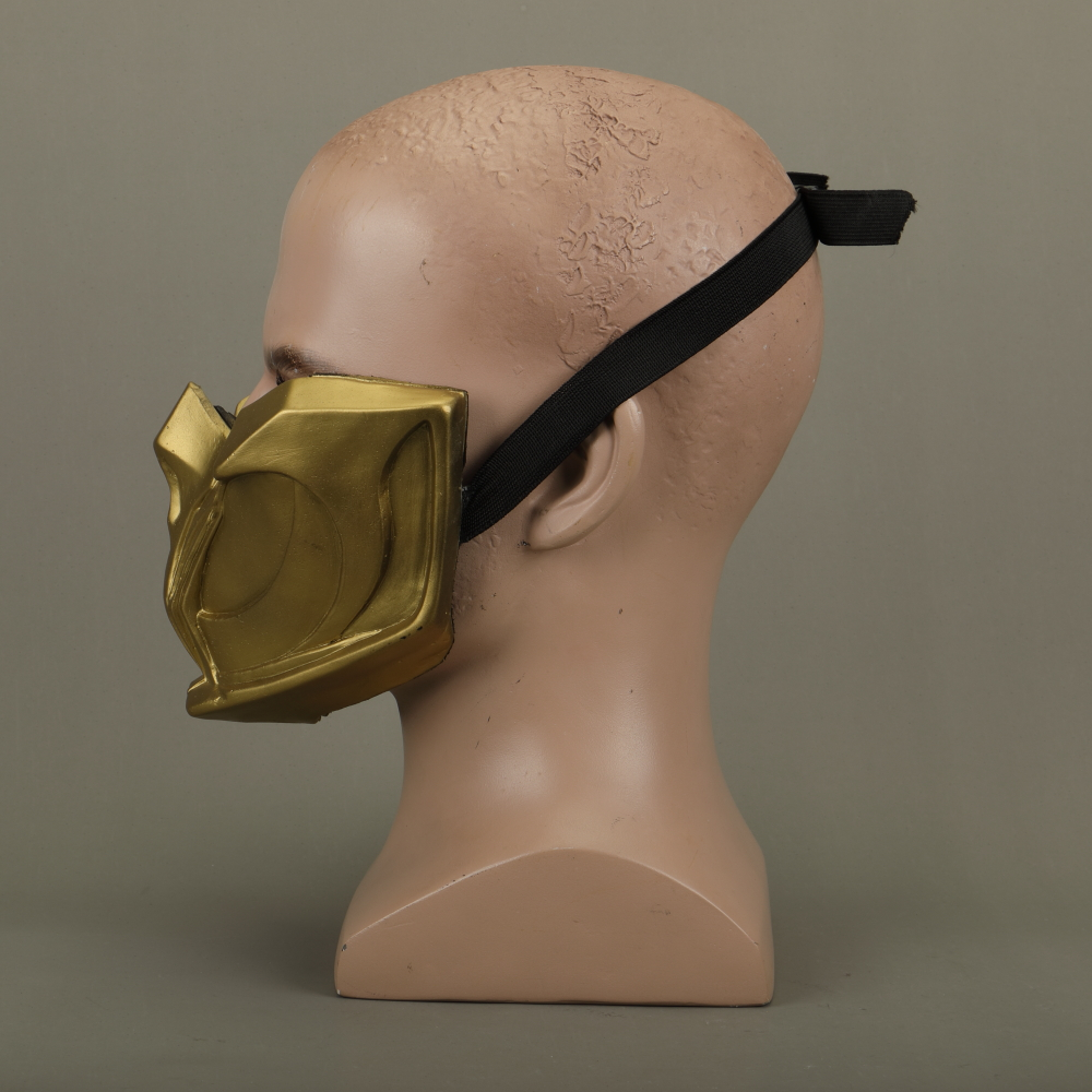 2019 New Mortal Kombat X Scorpion Hanzo Hasashi Sandal Wood Mask Half Face PVC Masks Adult Men Cosplay Costumes Halloween Mask (10)