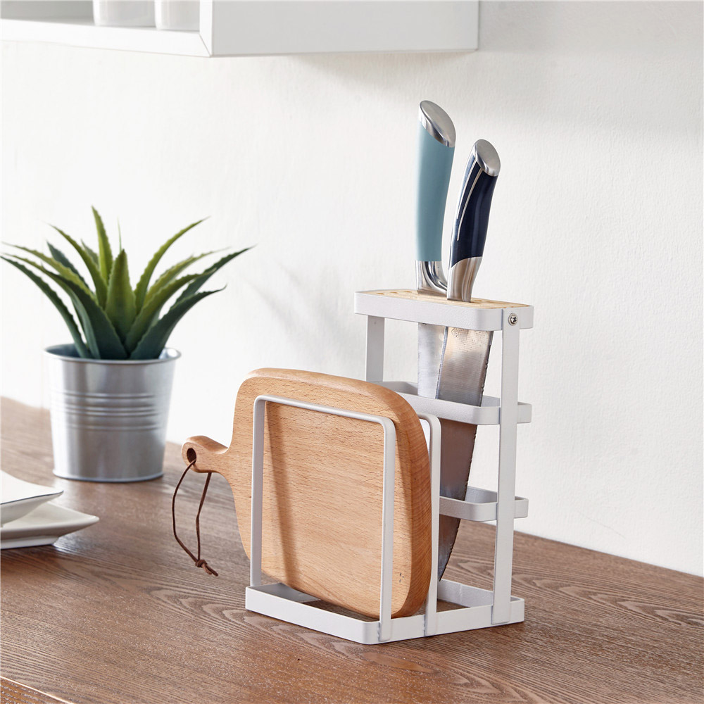 Metal Cutting Board Chopper Holder Drying Rack Counter Display Stand Kitchen Storage Tool YU-Home