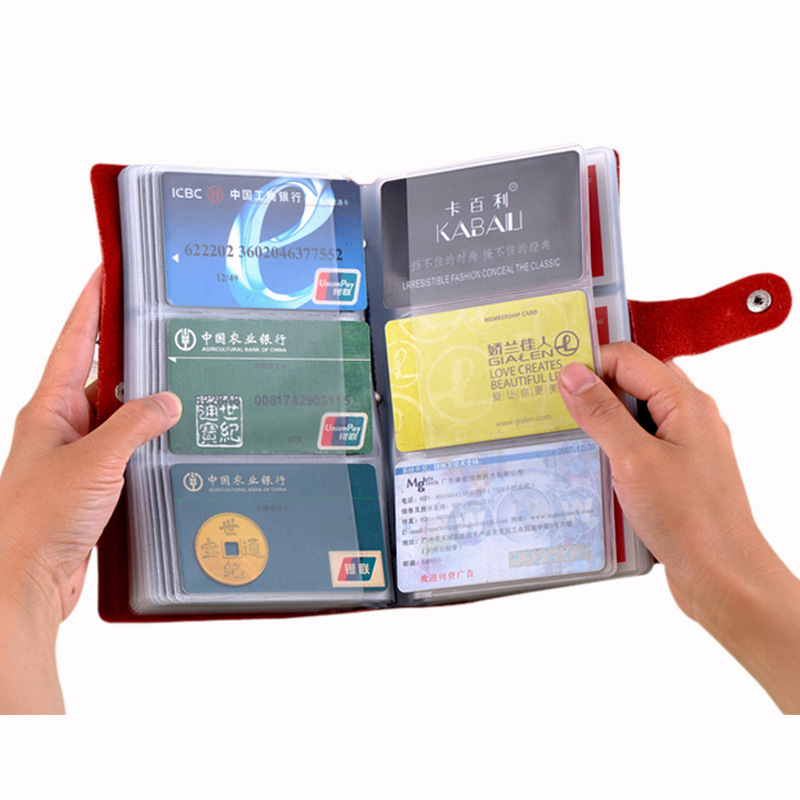 Genuine Leather Large Capacity 90 font b Card b font Bit Business font b Card b