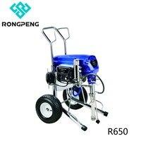 Rongpeng Безвоздушного Краски опрыскиватель машина R650 бесщеточный похожие на электромобиль ультра MaxII 1095 с распылителем 0,025 и 30 М шланг